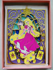 RAPUNZEL TANGLED ART NOUVEAU STAINED GLASS 3.5 inch SUN LANTERNS FANTASY PIN 100