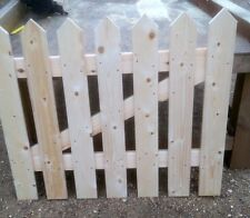 WOODEN PICKET GARDEN GATE HIGH QUALITY WOOD 90cm x 75cm  - plus FREE HARDWARE