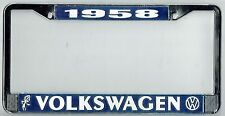 1958 Volkswagen VW Bubblehead Vintage California License Plate Frame BUG BUS T-3