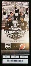 2012 LA Kings Stanley Cup Champs Commemorative Ticket