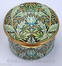 Halcyon Days Enamels William Morris Commemorative Limited Edition Enamel Box