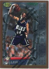 1996-97 Topps Finest Ray Allen Rookie Card #22 Milwaukee Bucks Huskies BV$12 R1