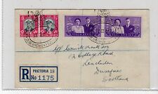 SOUTH AFRICA: 1947 REGISTERED ROYAL VISIT COVER TO SCOTLAND (C20212)