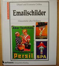 Emailschilder Blechschilder und Reklame Werbung Battenberg Email Buch Book 1996