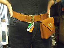 CINTURA con MARSUPIO Removibile Vera PELLE CB-Belt with Pouch  VERY RARE