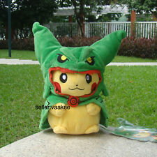 "Pokemon Go Plush Toy Pikachu With Rayquaza Suit 8"" Poncho Hat Dragon Lovely Doll"