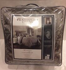 WATERFORD LINENS MONTAIGNE DUAL KING COMFORTER SET w/ bedskirt 2 king shams