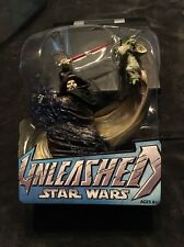2005 Hasbro Star Wars Unleashed Yoda Vs Sidious Action Figures