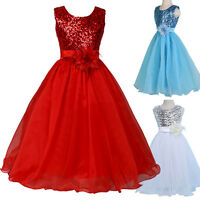 Mädchen Alter 7~12 Blumenkleid Seuiwned Formell Party Kleid Hochzeit