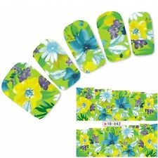 Tattoo Nail Art Flower Bunt Aufkleber Blumen Colorful Water Decall Neu!