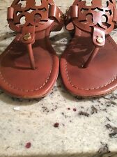 Tory Burch Miller Leather Sandals Brown Sz 6 1/2