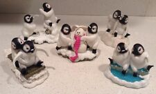 Lot of 5 Penguin Figurines Arctic Sweethearts Collection Hamilton Valentines Day