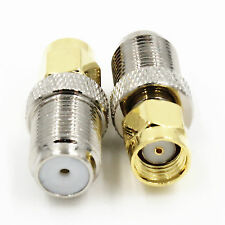 1stk. Neu F Female Jack auf RP-SMA Male JACK Center RF Coaxial Adapter Connector