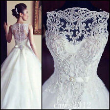 2015 == White/Ivory Wedding Dress Bridal Gown Custom Size:6/8/10/12/14/16/18