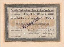 Deutsche Wohnstätten Bank AG  Berlin  1924