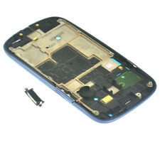 LCD Frame Housing Mid Chassis +Home Button For Samsung Galaxy S3 mini I8190 Blue