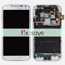 White LCD Display Touch Screen Digitizer + Frame For Samsung Galaxy S4 i545 L720