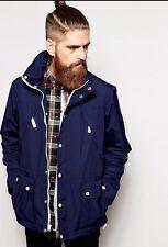 NEW JCrew X Penfield $199 Hamlin Field Coat jacket XS Navy Parka Fitted Hood