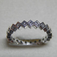 Authentic Pandora 190944CZ Ring Square Eternity 54 (7) Box Included