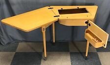 VINTAGE SINGER SEWING MACHINE TRAPEZOID SPINET #74 CABINET 301 A 401 403 404 503