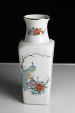 Fine China Vase Japan Porzellan Pfau Rosen