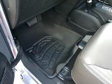 Front Row Black Floor Mats for a 2014 - 2017 Jeep Wrangler