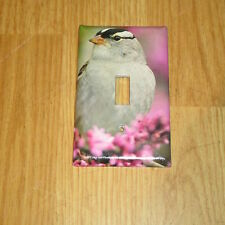 WHITE-CROWNED SPARROW WILD BIRD LIGHT SWITCH COVER PLATE #2