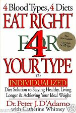 Eat Right 4 Your Type by Dr. Peter J. D'Adamo For Blood Type Hardcover WT22899
