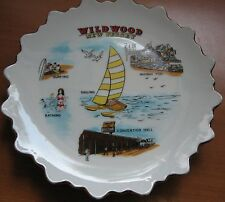 Vintage WILDWOOD New Jersey Plate Midway Fun Sailing Surfing Souvenir Collector