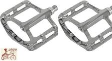 "XPEDO SPRY SILVER 9/16"" 3-PIECE CRANK BMX-MTB BICYCLE PEDALS"