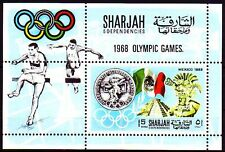 Sharjah 1968 ** Bl.41 A Olympische Spiele Olympic Games M/S perf