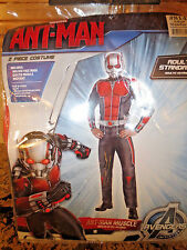 NEW Party City Marvel Muscle Ant-Man Deluxe Adult Mens Costume- STANDARD- NWT
