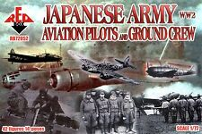 WW2 JAPANESE ARMY AVIATION PILOTS AND GROUND CREW 42 FIGURES 1/72 RED BOX 72052