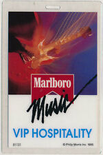 Malboro Music Tour 1995 VIP Backstage Concert Pass Laminate - Philip Morris Inc