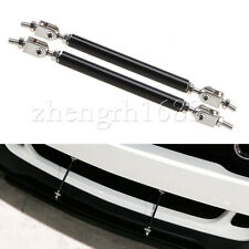 pair Adjustable Front/Rear Splitter Frame Bumper Protector Rod Support Universal