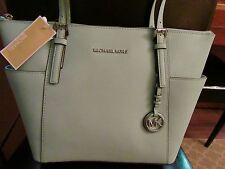 MICHAEL KORS SAFFIANO LEATHER JET SET ITEM EW ZIP GREEN TOTE PURSE NEW $248