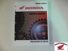 GENUINE HONDA SERVICE SHOP MANUAL HONDA TRX350 RANCHER ALL MODELS 2000-2003