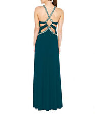 Dynasty Teal & Silver Embellished Maxi Dress (RRP £245)