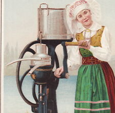 DeLaval Separator 1893 Dairy Milk Maid Cream Chicago World Fair Advertising Card
