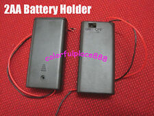 3 pieces, 2 AA BATTERY HOLDER  BATTERY BOX WITH ON/OFF SWITCH