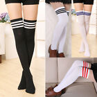 Women Girls Long Over The Knee Cotton Socks Thigh High Soft Cotton Stockings New