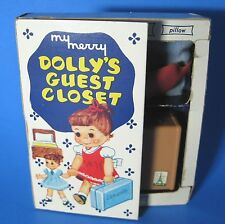 Vintage 1958 My Merry Dolly's Guest Closet Toy Doll Set Complete 4 Pieces