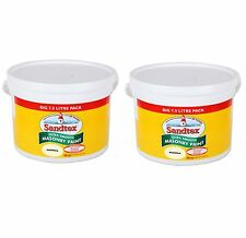 2 for £61.99 - Sandtex - Magnolia Masonry Paint 7.5L -Ultra Smooth Quality Paint