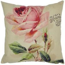 Fashion New Colorful Flower Cushion Cover Linen Burlap Pillow Case Sofa Tapestry