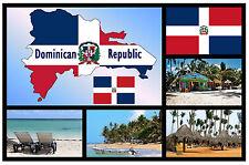 REPUBBLICA DOMINICANA MAP/BANDIERA NEGOZIO DI SOUVENIR NOVITÀ