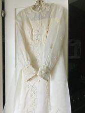 1946 Vintage Antique Wedding Bridal Gown, Veil, Headpiece & detachable train Exc