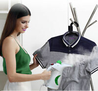 MOSS WHITE 750W PORTABLE HANDHELD GARMENT CLOTHES FABRIC STEAMER STEAM NEW