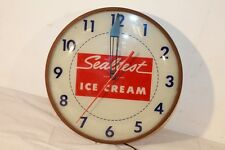 Vintage Sealtest Ice Cream Dealers Clock Pam Clock Co NY Lights Up Apr 1958
