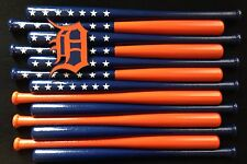 Detroit Tigers Custom Baseball Bat Flag