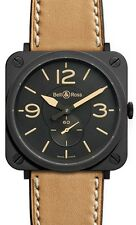 BR-S-HERITAGE | BELL & ROSS AVIATION | BRAND NEW AUTHENTIC BRS QUARTZ WATCH